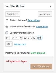 Beiträge in WordPress zeitgesteuert veröffentlichen