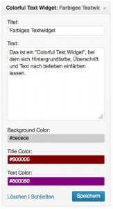 WordPress Plugin Colorful Text Widget
