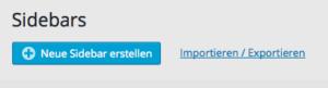 Custom Sidebars - Button unter Widgets