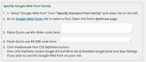 Einbindung von Google Webfonts in die Weaver II Theme-Options
