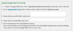 Einbindung von Google Webfonts in die Weaver II Theme-Options