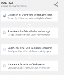 Trackbacks durch Antispam Bee ausfiltern