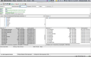 Benutzeroberfläche Filezilla