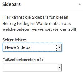 Individuelle Sidebar für Seiten und Beiträge festlegen