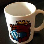 Tasse mit Berliner Wapuu - dem Maskottchen der WordCamps
