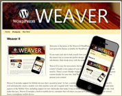 "Screenshot des WordPress-Themes ""Weaver II"""