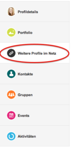 Auswahl im XING-Profil