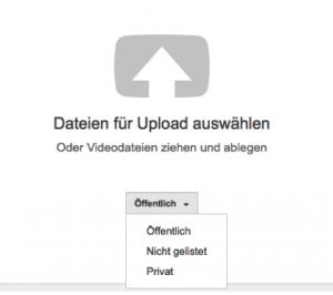 Videos hochladen in Youtube
